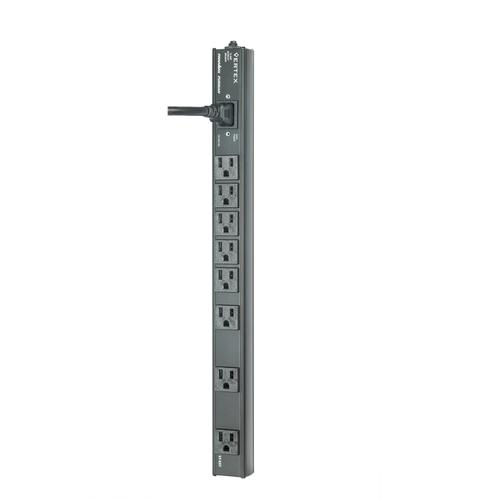 Vertex, 8 Outlets (3 Wall Wart Spaced) Vertical Power Distribution