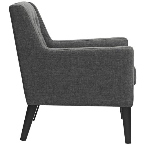 Modway - Earnest Upholstered Fabric Armchair in Gray