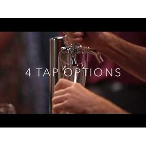 24-In Beverage Dispenser with Door Style - Black, Door Swing - Right