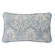 Belle Floral Embroidered Velvet Lumbar Pillow