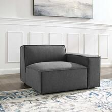 Restore Right-Arm Sectional Sofa Chair in Charcoal