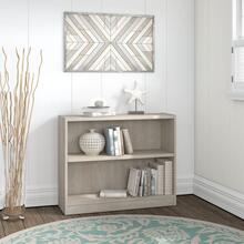 Universal Bookcases 2 Shelf Bookcase - Washed Gray