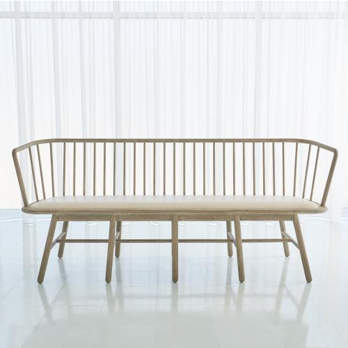 Spindle Long Bench-Muslin