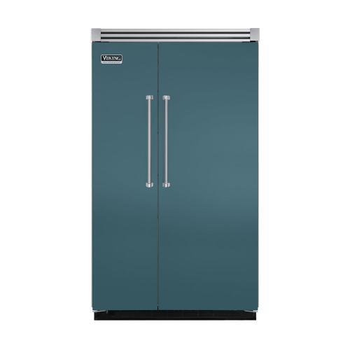 "Viking - Iridescent Blue 48"" Quiet Cool™ Side-by-Side Refrigerator/Freezer - VISB Tru-Flush™ (48"" wide)"