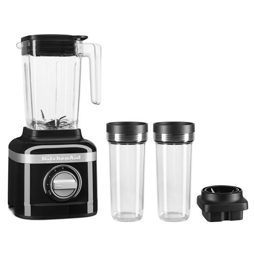 K150 3 Speed Ice Crushing Blender with 2 Personal Blender Jars - Onyx Black