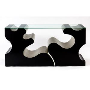"""Artmax - Console Table with Glass 61x15x31"""""""