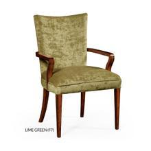Biedermeier style mahogany dining armchair (Lime Green)