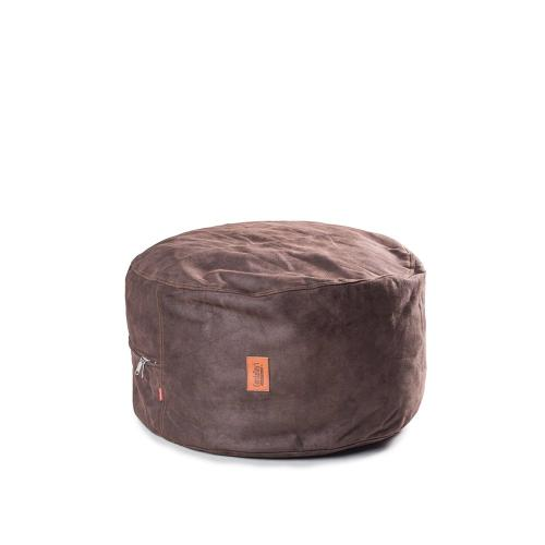 Footstool - Faux Leather - Coffee