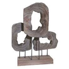 "Wood 23.5"" Cut Log Table Top Decor, Brown"