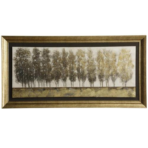 Style Craft - Gilt Foliage  Made in USA  Traditional Wall Art  Framed Canvas