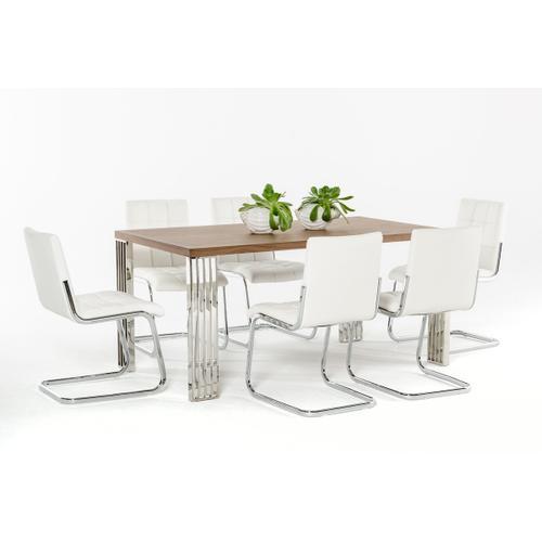 Modrest Bertram Modern Walnut Dining Table