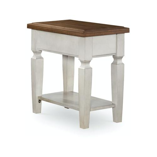 John Thomas Furniture - Side Table in Hickory & Shell