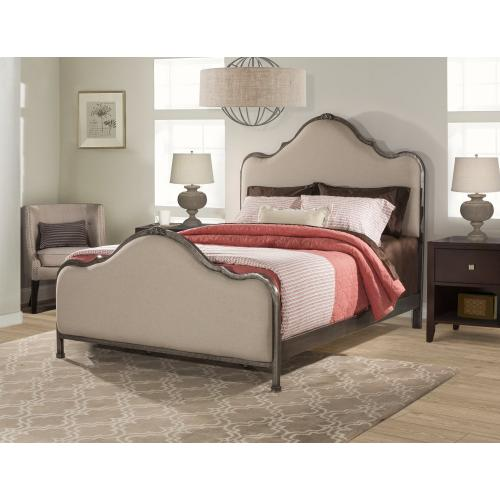 2140 Delray Queen Bed HB-FB-RA - Aged Steel With Linen Stone
