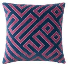 Maze Pillow, NAVY, 22X22