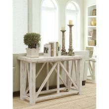 View Product - Aberdeen - Sofa Table - Weathered Worn White Finish