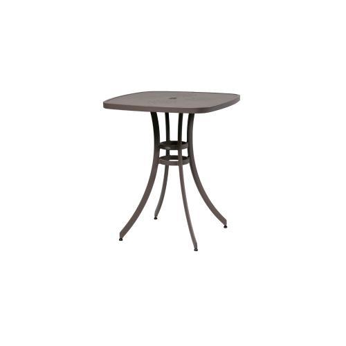 "Ratana - Pisa 36"" Square Bar Table w/Aluminum Top w/Umbrella Hole"