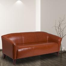 HERCULES Imperial Series Cognac LeatherSoft Sofa