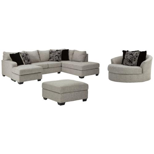 2-piece Sectional With Chair and Ottoman