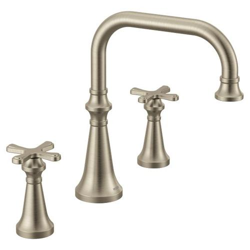 Colinet brushed nickel two-handle roman tub faucet