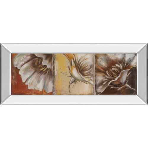 """""""The Three Poppies Il"""" By Patricia Pinto Mirror Framed Print Wall Art"""