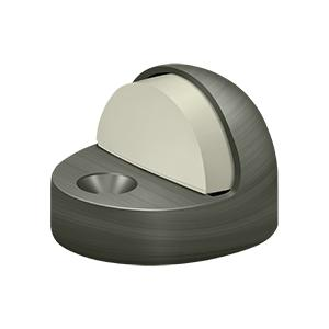 Deltana - Dome Stop High Profile, Solid Brass - Antique Nickel