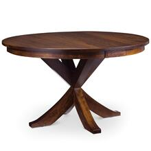"""View Product - Parkdale Single Pedestal Table, 48"""" Round / One 12"""" Leaf"""