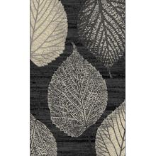 "Durable Flat Weave No Shedding Lifestyle 699 Area Rug by Rug Factory Plus - 5'4 x 7'5"" / Gray"