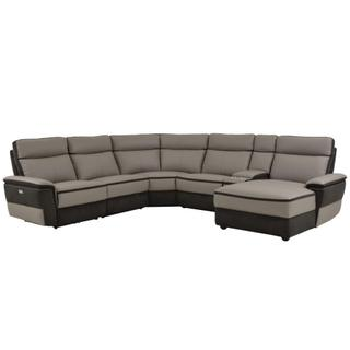 Laertes 6 Piece Modular Power Reclining Sectional
