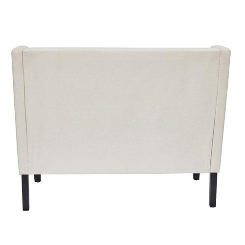 Tufted Nailhead Trim Entryway Bench in Natural White