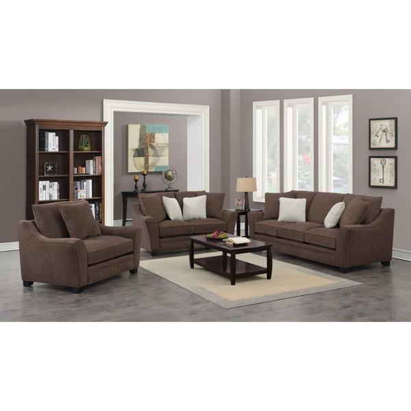 Ryland Brown Sofa, Loveseat, 1.5 Chair, U3871
