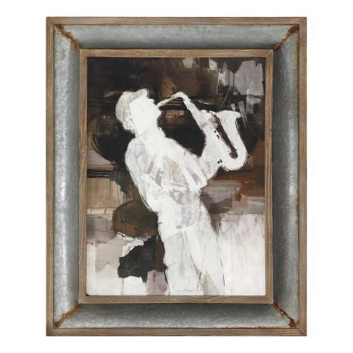 Jazz Sax Framed Print