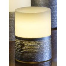 """4"""" Silver Scratch LED Candle"""