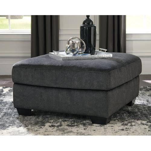 Accrington Oversized Accent Ottoman - Granite