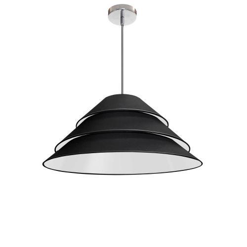Product Image - 1lt Aranza Pendant Black Shade, Polished Chrome