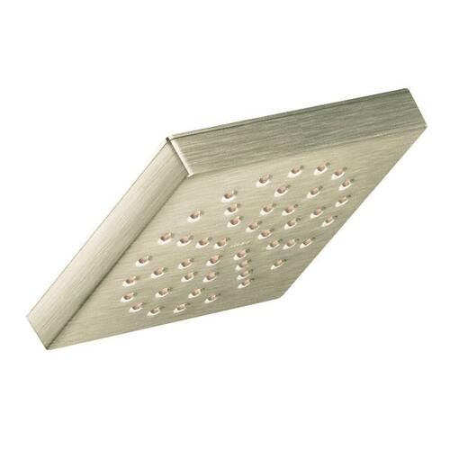 "90 Degree brushed nickel one-function 6"" diameter spray head eco-performance rainshower"