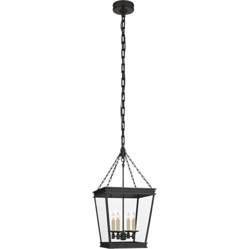 Visual Comfort CHC5610BZ-CG E. F. Chapman Launceton 4 Light 13 inch Bronze Foyer Lantern Ceiling Light, Small Square