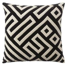 Maze Pillow, BLACK, 22X22