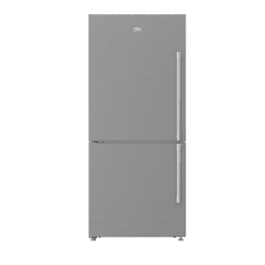"Beko30"" Freezer Bottom Stainless Steel Refrigerator with Auto Ice Maker (Left Hinge)"