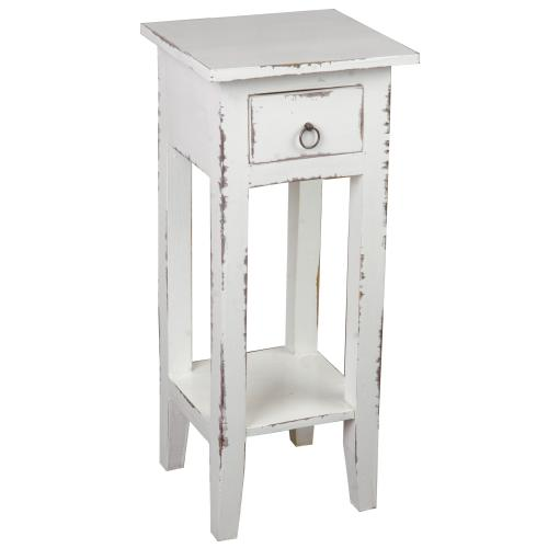 Side Table - Distressed Whitewash