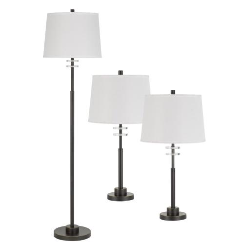 150W 3 Way Table And Floor Lamp. 1 Floor And 2 Table Lamps Packed in One Box