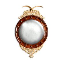 """Regency style """"Eagle"""" mahogany gilded round convex mirror"""
