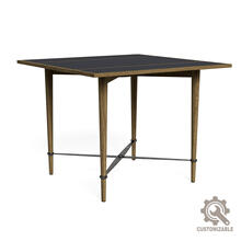Mayfair Card Table Lthr Top, Unfinished