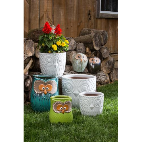 Hoot Planter, mixed colors - Set of 2