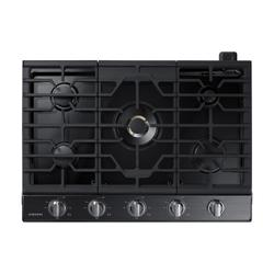 """30"""" Smart Gas Cooktop with 22K BTU Dual Power Burner in Black Stainless Steel"""