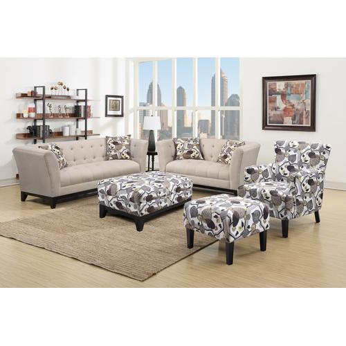 Emerald Home Marion Sofa W/2 Accent Pillows Cream U3663m-00-19