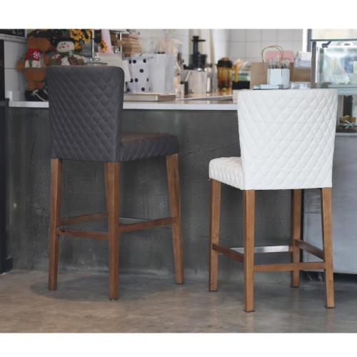 Product Image - Albie KD Diamond Stitching PU Bar Stool, Danburry Gray