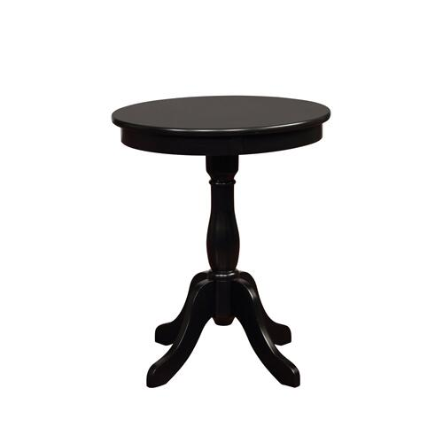 Round Top and Pedestal Base Table, Black