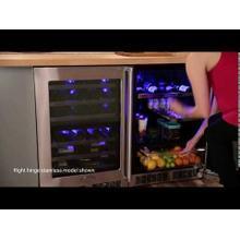 24-In Professional Built-In Beverage Refrigerator with Door Style - Stainless Steel Frame Glass, Door Swing - Left