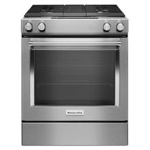 (OPEN BOX) 30-Inch 4-Burner Dual Fuel Downdraft Slide-In Range - Stainless Steel