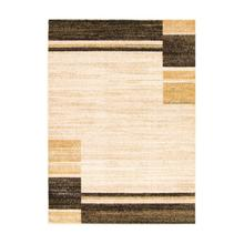 Holland - Contemporary Squares Area Rug, Beige and Yellow, 5' x 7'